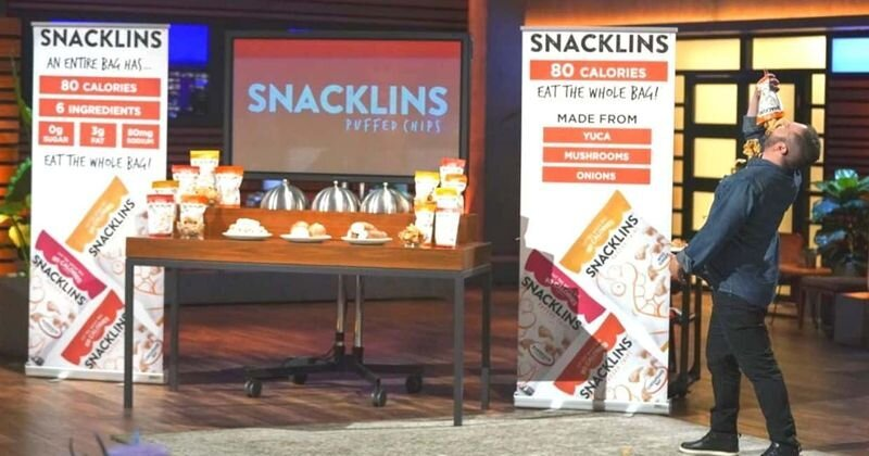 Samy K on Shark tank Snacklins Product Launch Business Food Washington DC