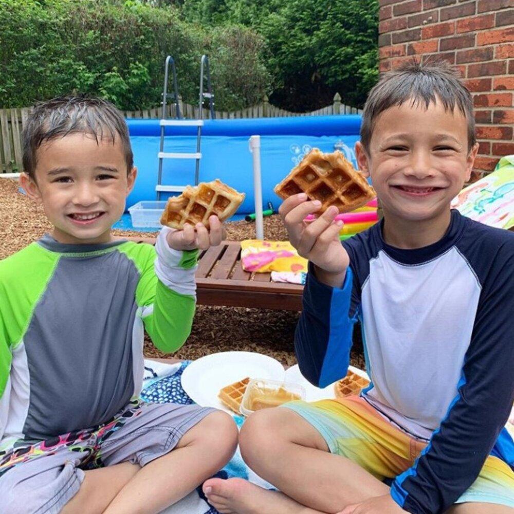 The willy wonka of breakfast: Walt's Chocolate Waffle & Pancake mix